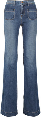 J Brand Denim Bette high-rise flared jeans