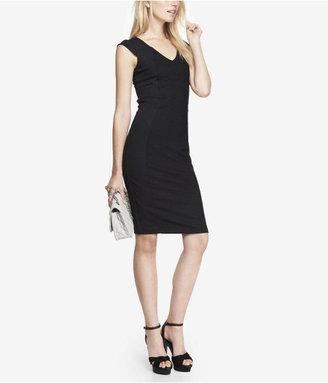 Express Curved Seam Ponte Knit Sheath Dress