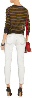 Current/Elliott The Stiletto metallic-coated skinny jeans