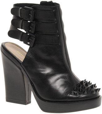 Kurt Geiger Vex Leather Cut Out Shoe Boots