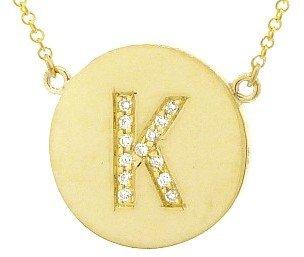 Jennifer Meyer Diamond Letter Necklace - K - Yellow Gold
