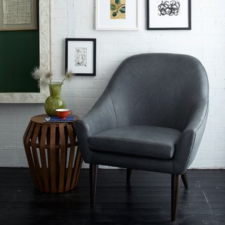 west elm Slope Leather Armchair