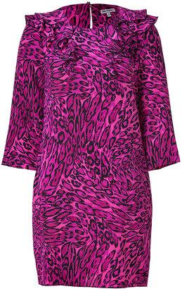 Juicy Couture Royal Purple Leopard Print Silk Dress