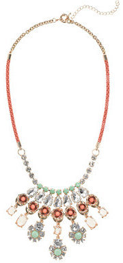 J.Crew Neon rose crystal necklace