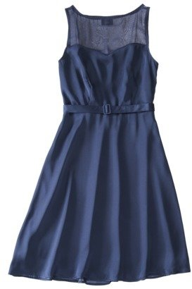 Mossimo Women's Satin Sleeveless Sweetheart Neck Dress - Assorted Colors