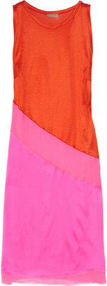 Bottega Veneta Color-block satin-jersey and silk dress