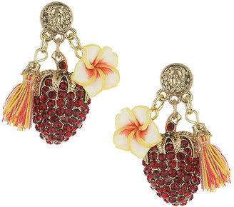 Topshop Flower and strawberry earrings