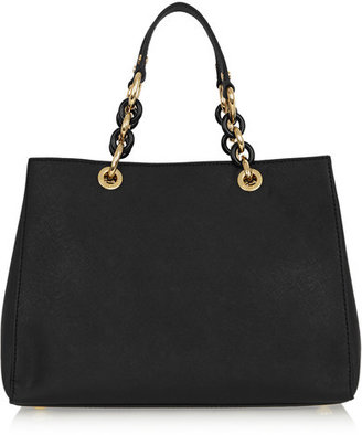MICHAEL Michael Kors - Cynthia Medium Textured-leather Tote - Black $348 thestylecure.com