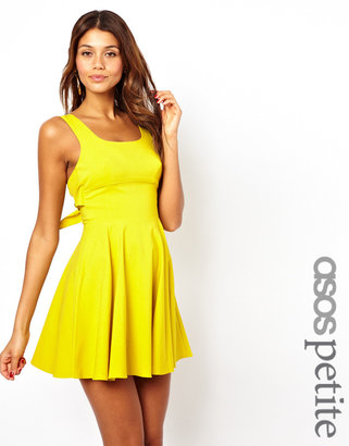 Asos Exclusive Skater Dress With Bow Back