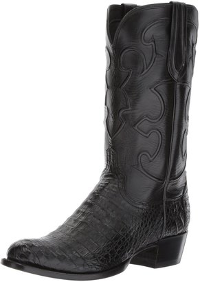 Lucchese Classics Men's Charles-blk Belly Croc/blk Derby Calf Riding Boot 8 D US
