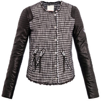 Rebecca Taylor Tweed and leather jacket