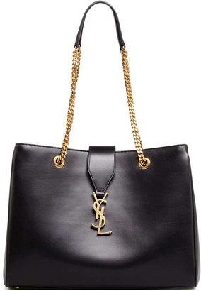 Saint Laurent Cassandre Chain-Strap Shopper Bag, Black