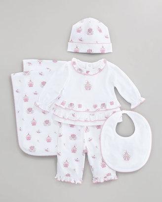 Kissy Kissy Enchanted Reversible Baby Bib, Pink
