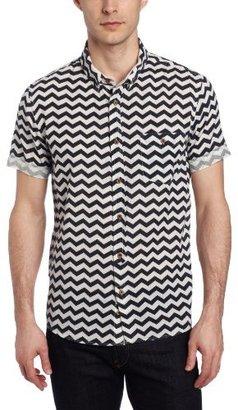 Zanerobe Men's Bay Short Sleeve Navy Shirt