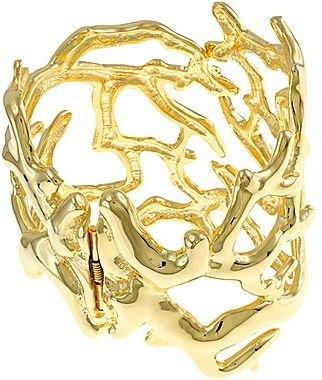 Kenneth Jay Lane FINE JEWELRY KJL by Gold-Plated Coral Reef Cuffed Bracelet