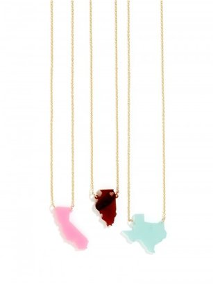 Acrylic State Pendant $48 thestylecure.com