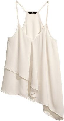 H&M Asymmetric Tank Top - Natural white - Ladies