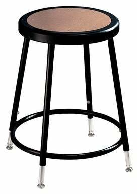 National Public Seating Adjustable Height Stool with Round Hardboard National Public Seating