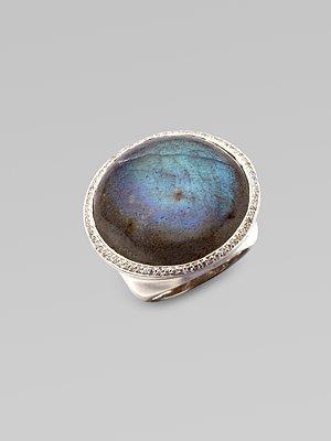 Ippolita Diamond Accented Labradorite Sterling Silver Ring