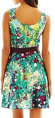 JCPenney Helene Blake Belted Print Dress - Petite