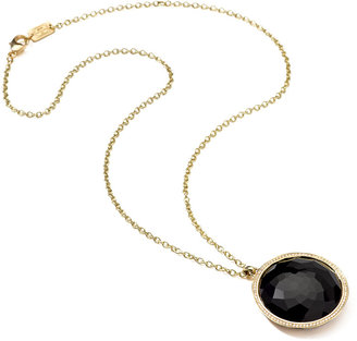 Ippolita 18K Gold Rock Candy Large Lollipop Necklace in Onyx & Diamonds