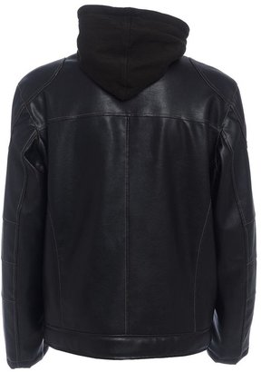 R &o faux-leather sherpa-lined hoodie - men