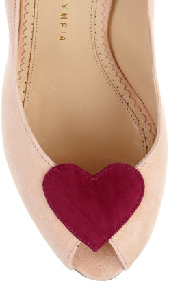 Charlotte Olympia Delphine suede platforms