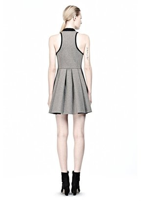 Alexander Wang Jersey Bonded Neoprene Rib Collar Dress