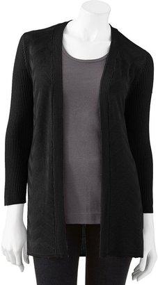 Croft & barrow ® ribbed open-front cardigan - women's