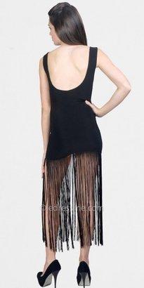 eDressMe Black Fringe Hem Dresses