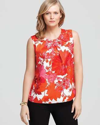 Jones New York Collection Plus Floral Printed Shell
