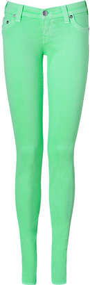 True Religion Neon Green Shannon Skinny Jeans