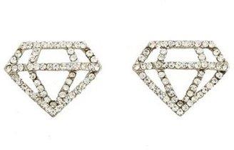 Charlotte Russe Rhinestone Diamond Stud Earrings