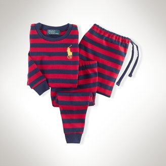 Rugby-Striped Cotton Sleep Set