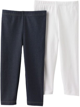 Carter's 2-pk. solid capri leggings - girls 4-6x