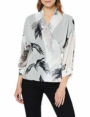 Religion Women's Ombre Shirt Regular Fit V-Neck Long Sleeve Shirt,8 (Manufacturer Size:8)