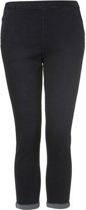 Topshop MOTO Indigo Straight Crop Jeans