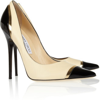 Jimmy Choo Limit tri-tone leather pumps