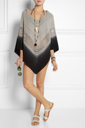 Lisa Maree Days End dip-dyed crocheted cotton coverup