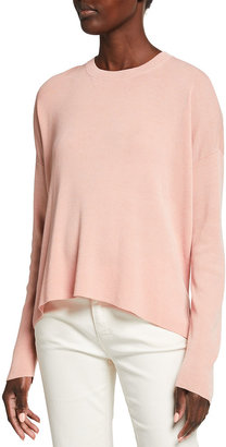 Eileen Fisher Crewneck Stretch Crepe Box Top
