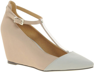 Asos SHADOW Pointed Wedges with Metal T-Bar