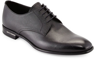 Prada Men's Saffiano Leather Lace-Ups