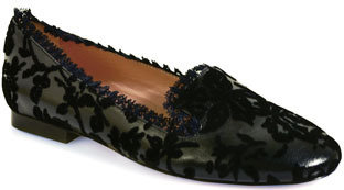 RED Valentino FQS00297 - Leather and Cut Lace Loafers in Black