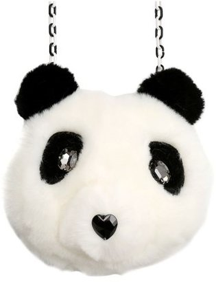Simonetta Faux Fur Panda Bag