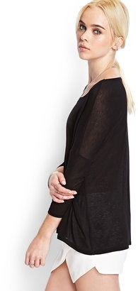 Forever 21 Heathered Knit Dolman Top