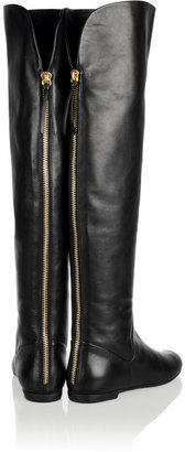 Giuseppe Zanotti Rabbit-lined leather over-the-knee boots