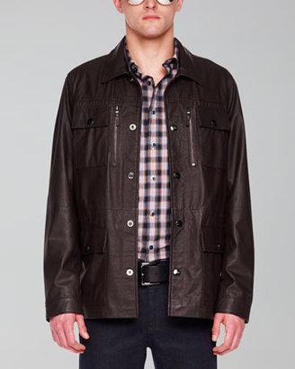 Michael Kors Leather Utility Jacket
