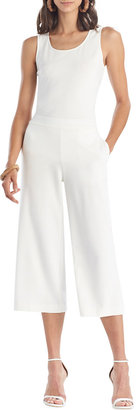Cropped Solid Ponte Pants