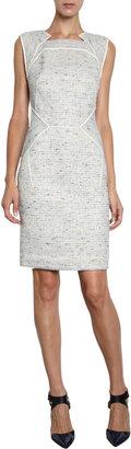 J. Mendel Striped Tweed Dress