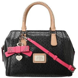 GUESS Specks SG Frame Satchel (Black) - Bags and Luggage